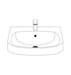 ceramic washbasin vector image