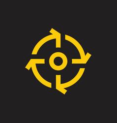 circle rotation arrows motion design logo vector image