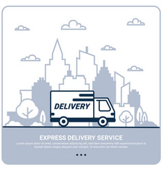 city delivery concept thin line styled delivery vector image