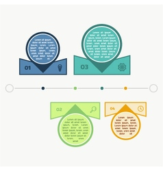 colorful timeline info graph vector image