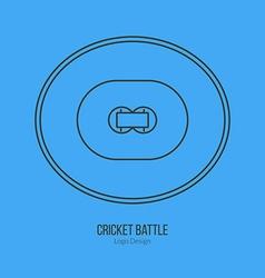 Cricket sport game logotype design concept vector
