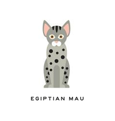 Cute egyptian mau cat medium-sized short-haired vector