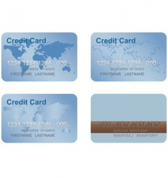 Design of a credit card vector