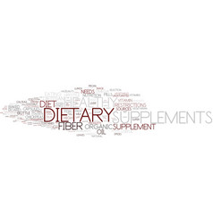 Dietary word cloud concept vector