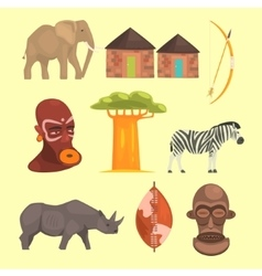 Different Symbols Of Africa vector