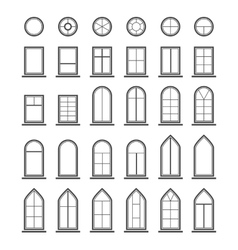 Different types windows eps10 vector