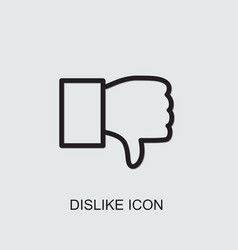 Dislike icon vector