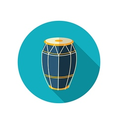 Drum flat icon Summer Vacation vector