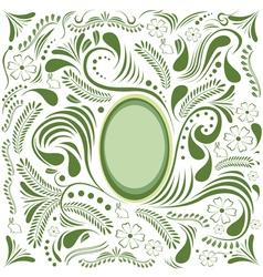 Easter green card vector