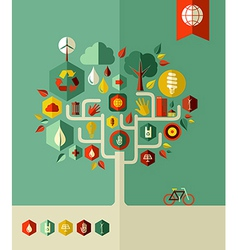 Eco conservation city tree vector