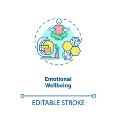 Emotional wellbeing concept icon vector