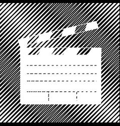film clap board cinema sign icon hole in vector image