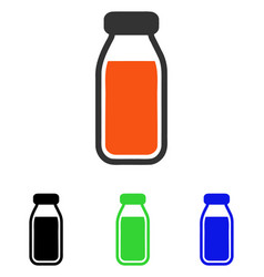 Full bottle flat icon vector