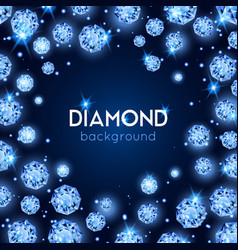 gem diamond background vector image