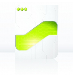 green and white futuristic sign vector image