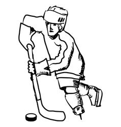 hockey vector image