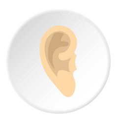 human ear icon circle vector image
