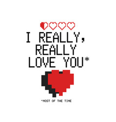 I really love you logo template happy valentines vector
