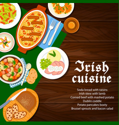 Irish cuisine food menu dishes ireland breakfast vector