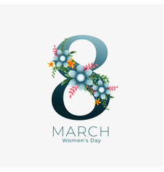 March 8th background for womens day vector