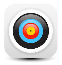 Minimal modern archery target icon vector