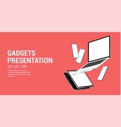 minimalist mockups gadgets vector image