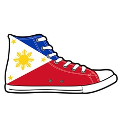 Modern sport shoes with Philippines flag vector