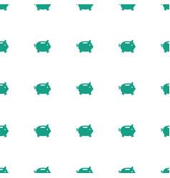 money box icon pattern seamless white background vector image