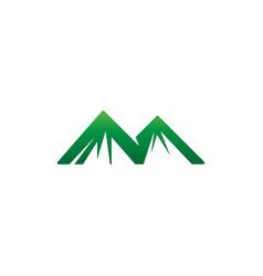 Mountain logo modern design concept vector