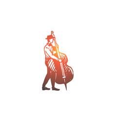 Musician jazz konrabas instrument vector