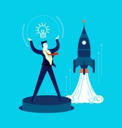 New business start up development man concept vector
