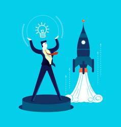 new business start up development man concept vector image
