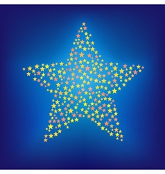 New year star vector image