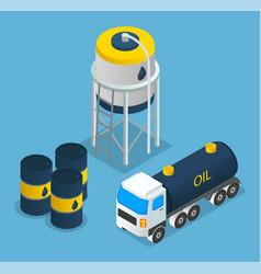 oil petroleum industry oil depot barrels vector image