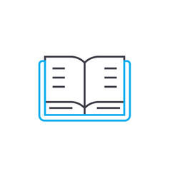 open textbook thin line stroke icon open vector image