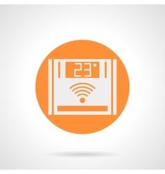 Orange wireless climate control round icon vector