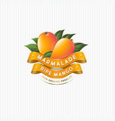 packaging design for mango marmalade ribbons vector image