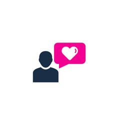 people testimonial logo icon design vector image