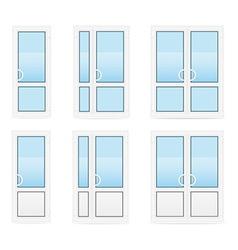 plastic doors 04 vector image