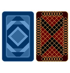 Playing card design vector
