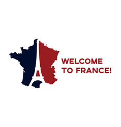 poster welcome to france vector image