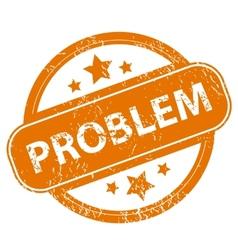 Problem grunge icon vector