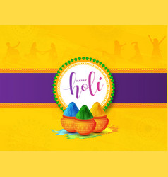 purple strip and yellow mandala pattern vector image