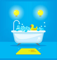 relax in bathroom concept background vector image