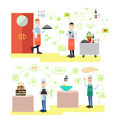Restaurant people in flat vector