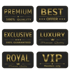 Royal Luxury banners vector image