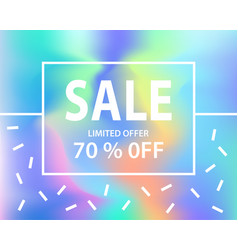 sale banner template for shopping vector image