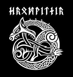 Scandinavian viking design mythological beast vector