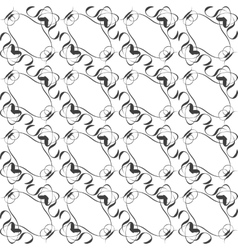 Seamless pattern in islamic style black and white vector image