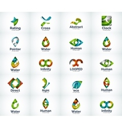Set of abstract logo icons vector